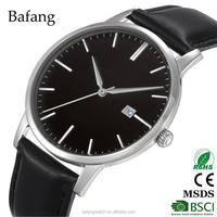 oem classic hand watch mens leather watches with japan miyota quartz movt