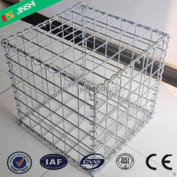 50 x 50mm mesh Hot dipped Galvanized wire mesh panel welded stone gabion box