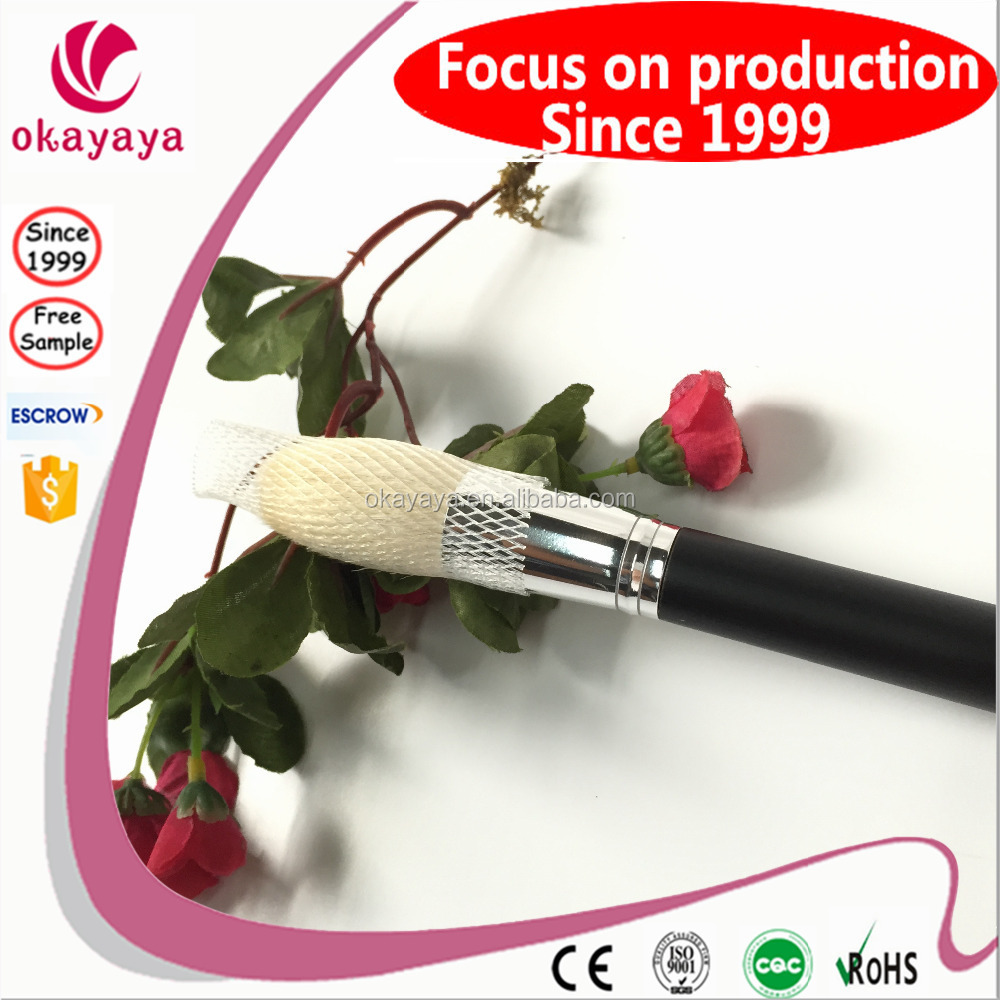 custom long handle black make up brushes Pure wool make up brushes personalized makeup brushes