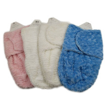 Hot product ripple brushed plush swaddle pv fleece sleeping bags for newborn babies