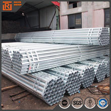 Galvanized steel pipe weight per meter, round tube for engineering and building