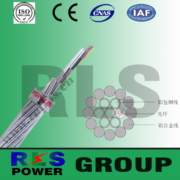 24 Core opgw cable / Optical Fiber Composite Overhead Ground Wire