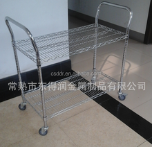 Changshu suppliers Iron pulley meal in the hotel dining car trolley