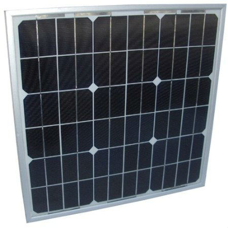 Lot of 5 20W Mono-crystalline Solar Panels 20 Watt 12 Volt in Anodized Aluminum Frame Square shape