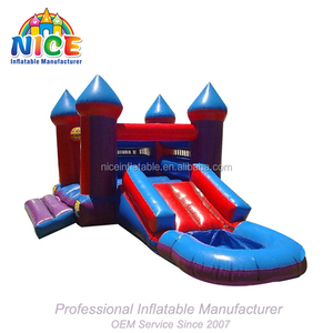 China factory inflatable castle playground inflatable crown jumping castle for kids