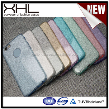 Custom waterproof cell phone case for Iphone6 flashing powder thin soft shell
