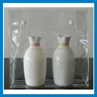 high quality clear pvc plastic bag with snap button