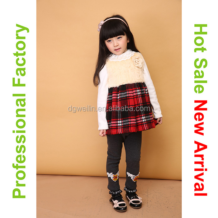 Free sample fancy cotton children designer clothes