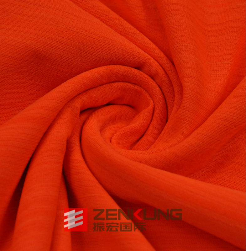 100 knitted dry fit Polyester Bar-Code Single Jersey fabric