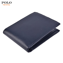 Wholesale VICUNA POLO oem men leather bifold luxury card holder durable wallet