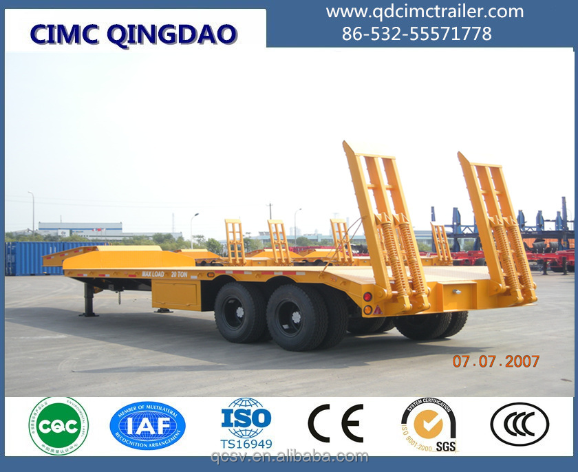 CIMC brand engineering heavy duty lowbed semi trailer