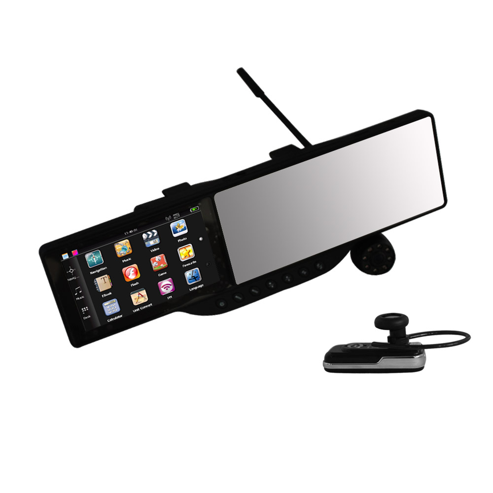 "direct factory 5"" Car rearview mirror monitor with GPS,DVR"