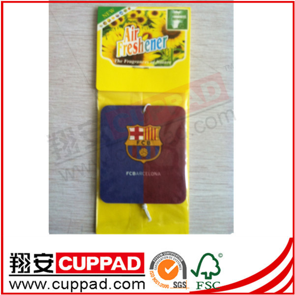 New arrival,nation flag logo paper car air freshener ,blackberry scent