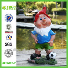 Handmade Gnome Resin Football Player Figure