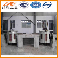 Intermediate frequency induction melting furnace for aluminum car parts