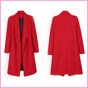 hot sell many color women long trench coat,warm inner over coat