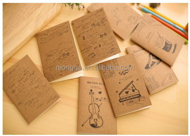 MOQ 4pcS Musical Instrument Mini Exercise Book Pocket Notebook With Blank Inner Pages Diary Notepad Memo Pads Stationery