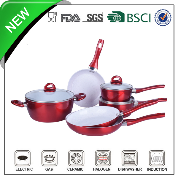 Forged Aluminum white enamel pot enamel cookware