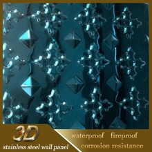 Luxurious Stainless Steel Embossed Sheet Metal Wall Covering For Bar Decorated
