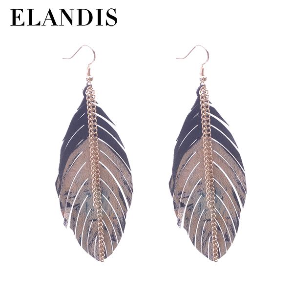 E-ELANDIS new products sword silver drape statement alloy earring ER50640