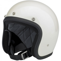 open face jet motorcycle helmet with bubble shield
