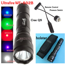 Accept paypal ultrafire 502b 1mode cree q5 red led hunting flashlight