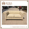 Classic upholstered 2 seater sofa chesterfield loveseat sofa