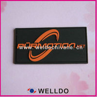 Custom pvc clothes brand logo label for garment