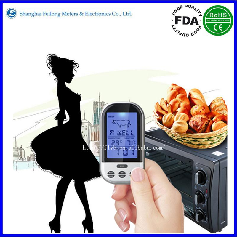 beef/chicken/pork/fish/turkey cooking lcd thermometer wireless thermometer