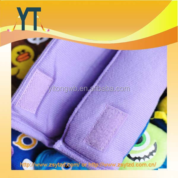 Soft Plush Car seat belt pads for kid safety,child car seat belt pad