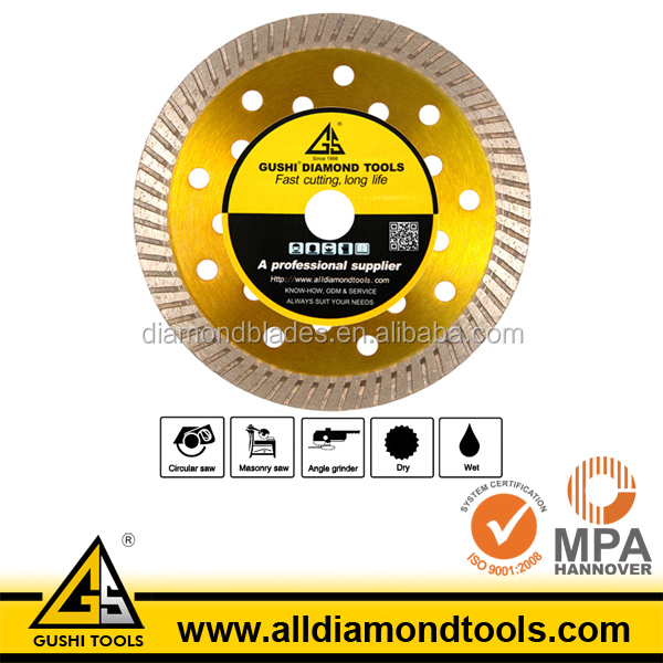 Dry or Wet 110mm Diamond Turbo Saw Blade for Stone