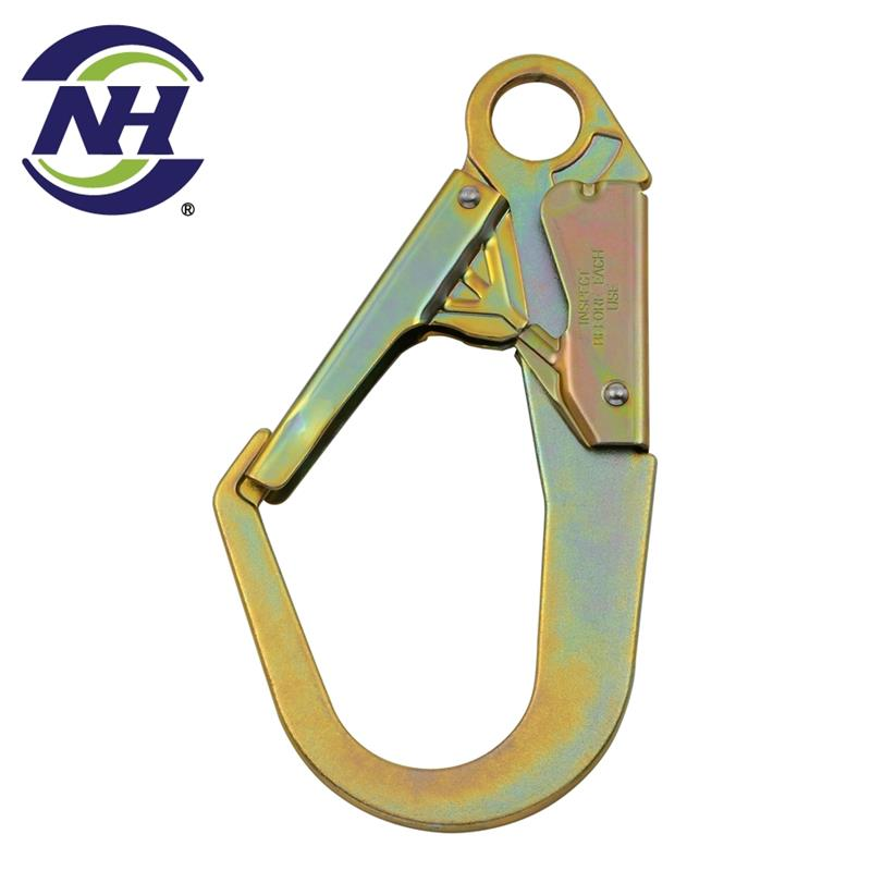 steel hooks fishing swivel snap mountain climbing hook carabiner mountaineering with great price