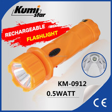 Portable Cheap LED Torch Rechargeable Flashlight Mini Torch Light KM-0912