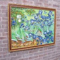 Reproductions Irises by Van Gogh oil painting framed