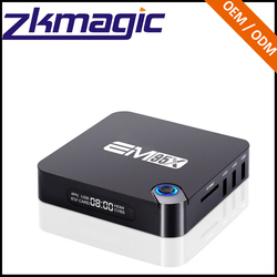 Most Popular Internet S905X EM95X Ultra HD 4K output arabic iptv box BT 4.0 Android 6.0 Quad Core android pocket computer