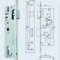 Aluminium Door Lock Body MA305