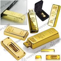 Top sale metal gold bar usb flash drive
