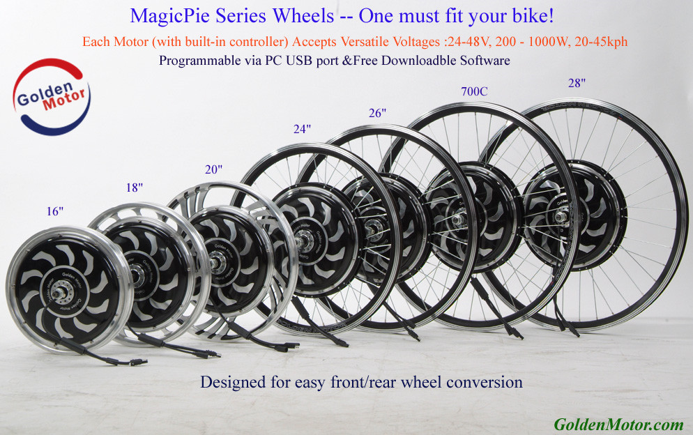 MagicPie 5 250W/500W/1000W electric bicycle conversion kit, electric motor for bicycle