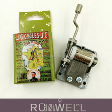Customized printing promotion item paper hand crank music box mechanism