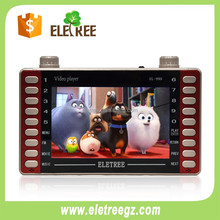EL-999 Hot 5 inch mini usb digitale mp4 video speler met oortelefoon poort