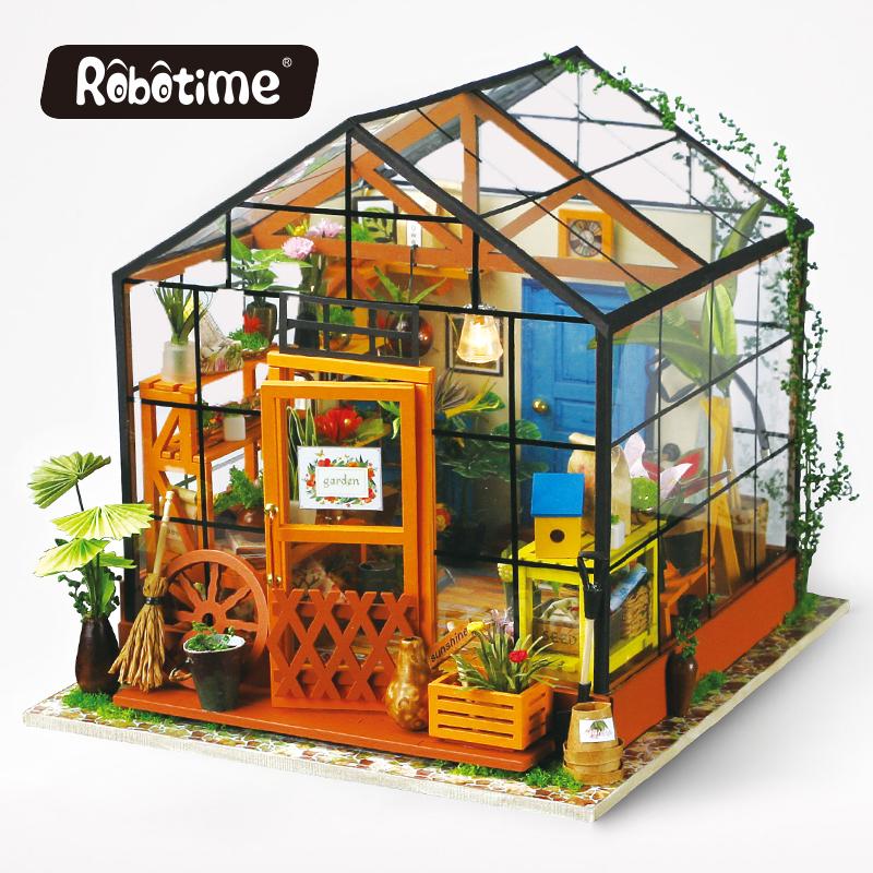 Robotime Doll House Diy Miniature Room Wooden Handmade Dollhouse