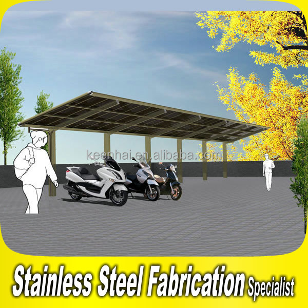 Simple Design Stainless Steel Outdoor Motorcycle Shelter