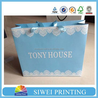 2015 China factory custom made valentine 100 wine paper bag recycle wholesale