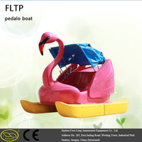 Recreational holiday fiberglass beach plastic pedal boat foot pedal