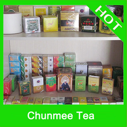 sliver gray color chunmee tea leaf famous brands around the world