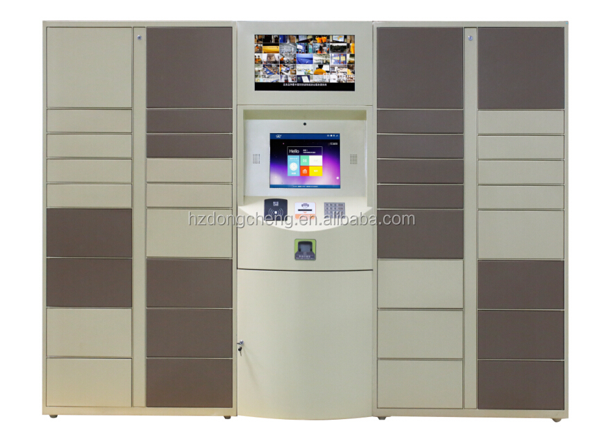 72 doors colorful DBS intelligent parcel locker