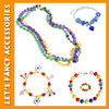 PGNE0029 Carnival Halloween party cheap plastic beaded necklace jewelry