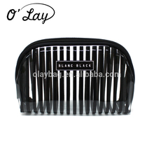 Cheap Price Avon Transparent Pvc Cosmetic bag With Black Strip Printing