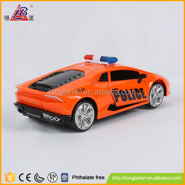 Customized with light and music B/O police 1:18 scale model car for kids