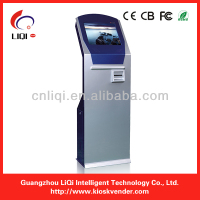 free standing intelligent queue management system machine